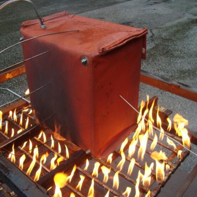 Fire Test and Simulation of Thermal Blanket