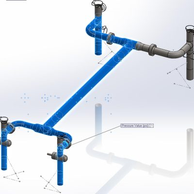 Pipeline Crossover Vibration Measurement and Simulation
